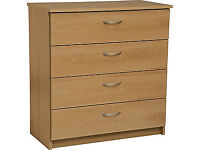 already built up Cheval 4 Drawer Chest - Oak Effect