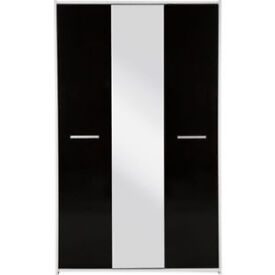 New Sywell 3 Door Mirror Wardrobe - Black and White