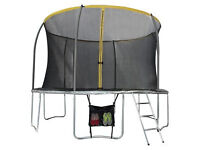 Sportspower 12ft Trampoline with Folding Enclosure Bundle