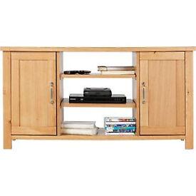 Heart of House Oxley 2 Door Low Sideboard TV Unit-Solid Oak