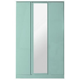 Hygena Inanna 3 Door Mirrored Wardrobe - Duck egg
