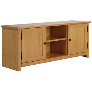 Porto Solid Wood TV Unit - Oak Effect