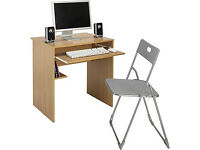 Office Desk and Chair Set - Beech Effect