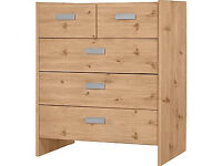 New Capella 3+2 Drawer Chest - Pine Effect (NEW)