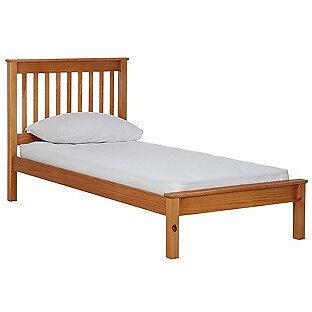 Aspley Single Bed Frame - Oak Stain.