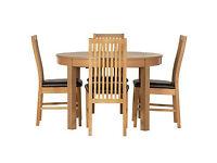 Coleridge Extendable Oval Table - 4 Paris Chairs.