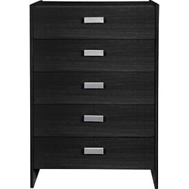 New Capella 5 Drawer Chest - Black Effect