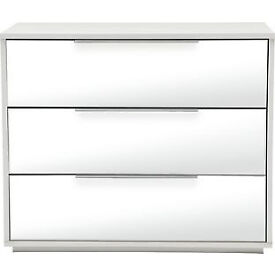 Hygena Bergen 3 Drawer Chest - Mirror