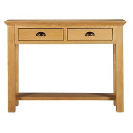 Westminster Console Table - Solid Oak