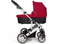 mamas and papas pixo carrycot package: carrycot & stroller & footmuff. NEVER USED - STILL PACKED