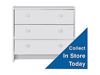 Seville 3 Drawer Chest - White
