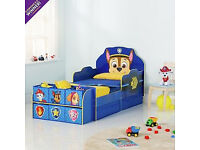 Fully assembled Paw Patrol Cube Toddler Bed Frame