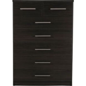 Normandy 5+2 Drawer Chest - Wenge Effect