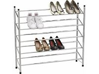Argos Home 5 Tier Extendable Shoe Storage Rack
