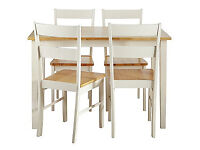 Chicago Dining Table and 4 Two Tone Chairs