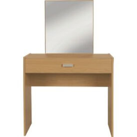New Capella 1 Drawer Dressing Table - Oak Effect