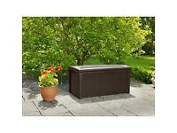 Brown Keter Murano Plastic Large Garden Storage Box