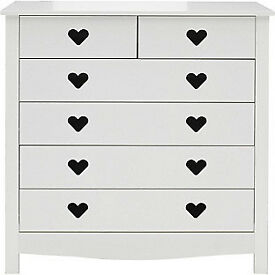 Mia 4 + 2 Drawer Chest - White