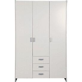 New Capella 3 Door 3 Drawer Wardrobe - Soft White