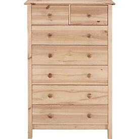 Scandinavia 5+2 Drawer Chest - Pine