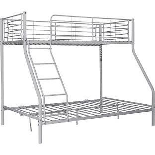 Metal Triple Bunk Bed Frame - Silver