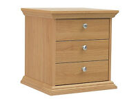 Canterbury 3 Drawer Bedside Chest - Oak effect