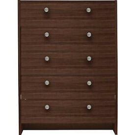 Seville 5 Drawer Chest - Wenge Effect