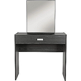 New Capella 1 Drawer Dressing Table - Black Ash Effect