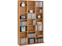 Islington DVD and CD Media Storage Unit - Oak Effect