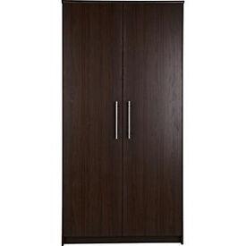 Normandy 2 Door Large Wardrobe - Wenge Effect