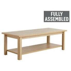 Truro 1 Shelf Coffee Table - Oak Effect