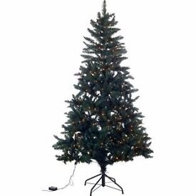 Green Spruce 180 Light Pre-lit Christmas Tree - 6ft