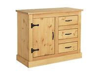 San Diego 1 Door 3 Drawer Sideboard - Solid Pine