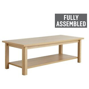 Truro 1 Shelf Coffee Table - Oak Effect
