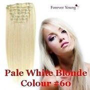 Clip in Human Hair Extensions Platinum