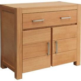 Heart of House Alston 2 Door Sideboard - Oak & Oak Veneer