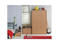 Newport 2 Drawer Chest And Bedside Chest Package - Beech