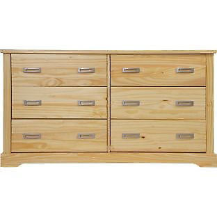 Mendoza 3+3 Drawer Chest - Pine Effect