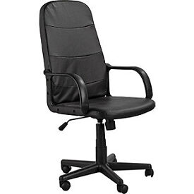 Parker Gas Lift Manager's Office Chair - Black