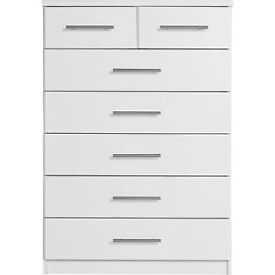 Normandy 5+2 Drawer Chest - White