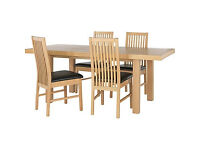 Franklin Extendable Dining Table-4 Black Paris Chairs.