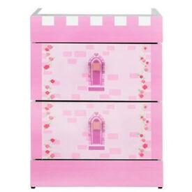 Princess 2 drawer beside - Pink