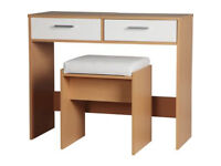 New Sywell Dressing Table and Stool - Oak Effect & White