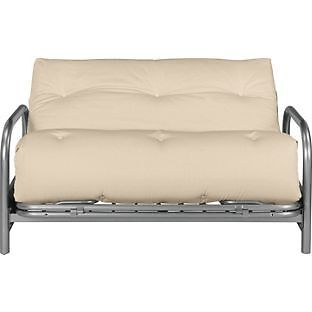 Colourmatch Mexico Futon Sofa Bed With Mattress Cream From Argos