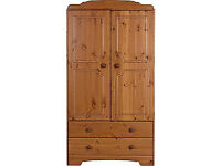 Nordic 2 Door 2 Drawer Wardrobe - Pine