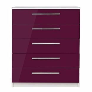"""Sparkle 5 Drawer ChestPlumin Sheffield, South YorkshireGumtree - Have this one for sale. New in box. In mint condition. """"Size H91, W75, D40cm. 27kg. Wood effect. 5 drawers with metal runners. Plastic handles."""""""