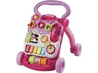 VTech First Steps Baby Walker Pink complete with phone excellent clean condition baby girl toy £10