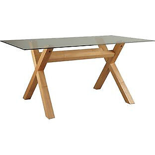 Hartley Glass 160cm Dining Table