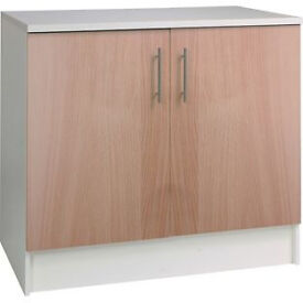 Athina 1000mm Fitted Kitchen Base Unit - Beech
