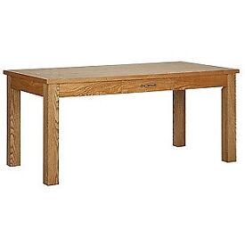 Heart of House Farnham Oak Veneer Dining Table with Drawer